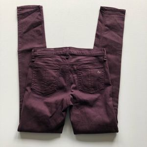 rag & bone Jeans - Rag & Bone Skinny Distressed Wine Color Jeans